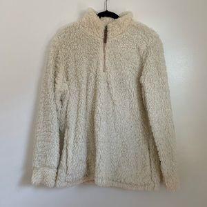 Weatherproof teddy-like sweater